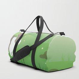 Dutch rabbit in field Duffle Bag