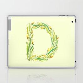 Leafy Letter D Laptop & iPad Skin