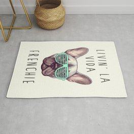 French bulldog - Livin' la vida Frenchie Rug