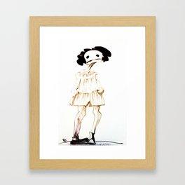 haloween girl Framed Art Print