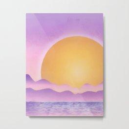 Sunset - purple variation Metal Print