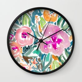 Hibiscus Jungle Wall Clock