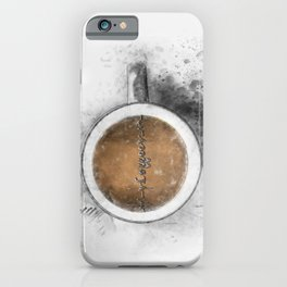 Coffee Heartbeat iPhone Case