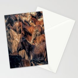 Wild horses. Stationery Cards