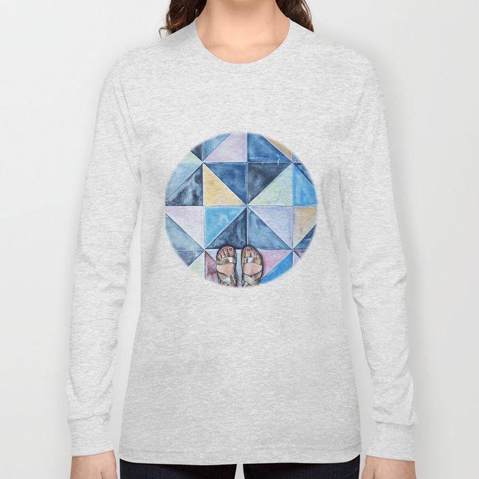 Art Beneath Our Feet - Mykonos Long Sleeve T-shirt