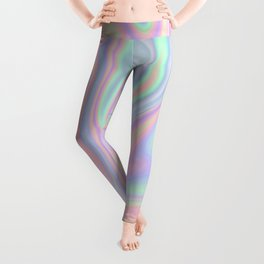 Liquid Colorful Abstract Rainbow Paint Leggings