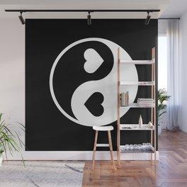Yin Yang Black & White Wall Mural