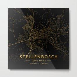 Stellenbosch, South Africa - Gold Metal Print
