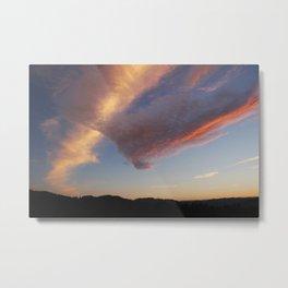 Pink V Cloud Metal Print