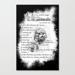 Borges' taxonomy Canvas Print