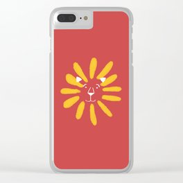 Sandy the Sunflower Lion Clear iPhone Case