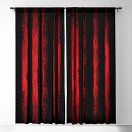 Red lines Blackout Curtain