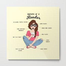 Anatomy of a Reader Metal Print