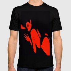 Seductive Look Red & Black Mens Fitted Tee Black MEDIUM