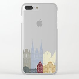 Angers skyline poster Clear iPhone Case