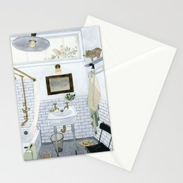 In The Bathroom Stationery Cards