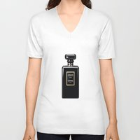 noir V-neck T-shirts featuring NOIR by I Love Decor