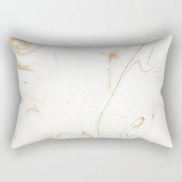 Elegant gold and white marble image Rectangular Pillow