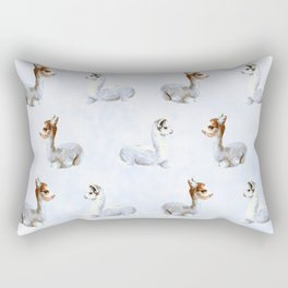 Alpaca in the clouds Rectangular Pillow