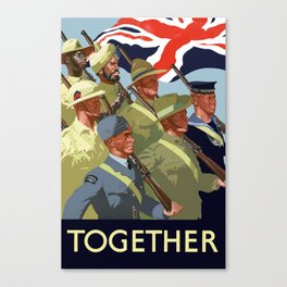 Together -- British Empire WW2 Canvas Print