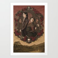jane eyre Art Prints featuring Jane Eyre by eevanikunen