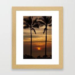 Watching The Setting Sun Framed Art Print