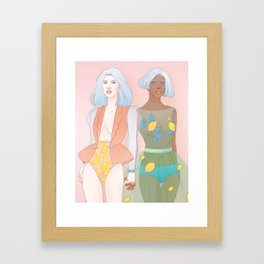 Citron + Limon Framed Art Print