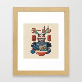 Super Ramen Bot Framed Art Print