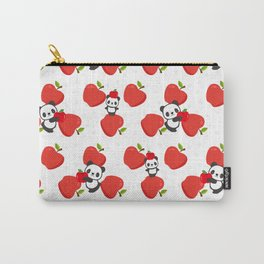 Pandas and Apples Carry-All Pouch