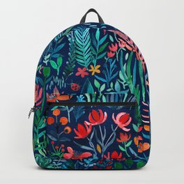 Tropical Ink - a watercolor garden Backpack