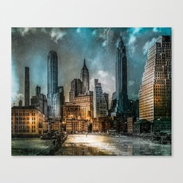 A Storm in New York City Canvas Print