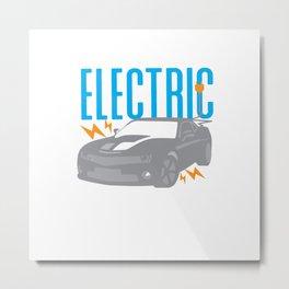 Electric Car Racing Automobile E-Car Metal Print
