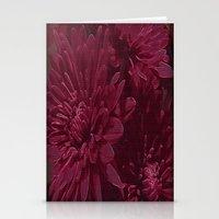 burgundy Stationery Cards featuring Burgundy Chrysanthemums by Judy Palkimas