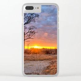 Grain Bin Sunset 3 Clear iPhone Case