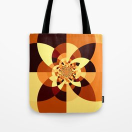 Orange Brown Kaliedoscope Tote Bag
