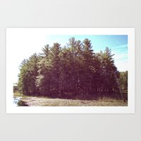 manchester Art Prints featuring Manchester Swamps by katarjana