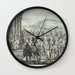A.J. Defehrt - Cortège of Janus (1764) Wall Clock