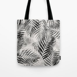 Palm Leaves - Black & White Tote Bag