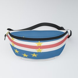 Flag of Cape Verde, officially the Republic of Cabo Verde. The slit in the paper with shadows. Fanny Pack