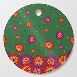 Retro Blooming Cutting Board