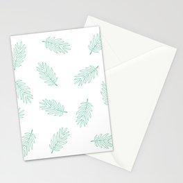 Minimalist Leaves Pattern Stationery Cards