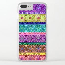 Darjeerling Stripe Clear iPhone Case