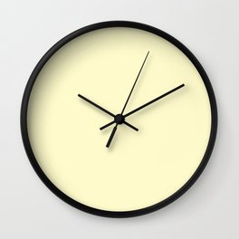 LEMON CHIFFON pastel solid color Wall Clock