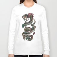 dragon Long Sleeve T-shirts featuring dragon by Erdogan Ulker