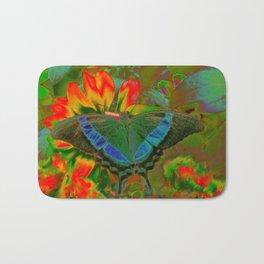 Extreme Emerald Swallowtail Butterfly Bath Mat