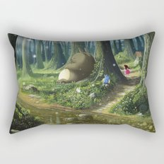 Totoro and Mei Rectangular Pillow
