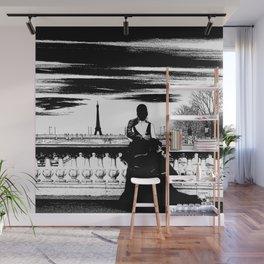 Marry me in Paris digital drawing Wall Mural