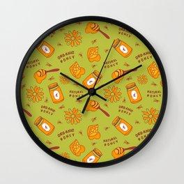 Organic Honey Pattern Wall Clock