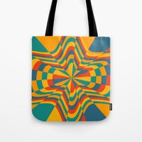 trippy Tote Bags featuring Trippy by Ashley