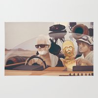 humor Area & Throw Rugs featuring Fear and Loathing on Tatooine by Anton Marrast